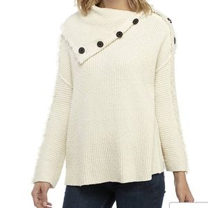 Free People Ivory TurleNeck Sweater $168 On Side
